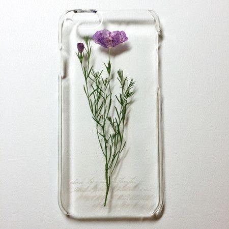 iPhone6ケース ボタニカルアート風押し花