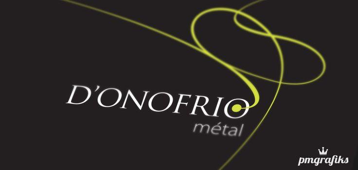 Logo et cartes de visite D'Onofrio Métal http://www.pmgrafiks.com