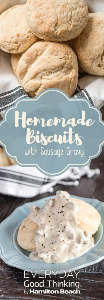 Homemade Biscuits with Sausage Gravy