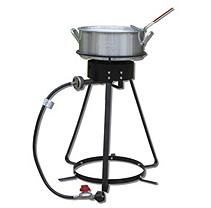 King Kooker #2402 24-Inch Bolt Together Outdoor Cooker Package with 10 Qt. Aluminum Fry Pan with Basket