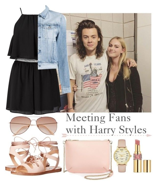 Meeting Fans with Harry Styles by tonioverthetop on Polyvore featuring polyvore fashion style 3x1 Miss Selfridge Steve Madden Ted Baker Kate Spade H&M Yves Saint Laurent clothing