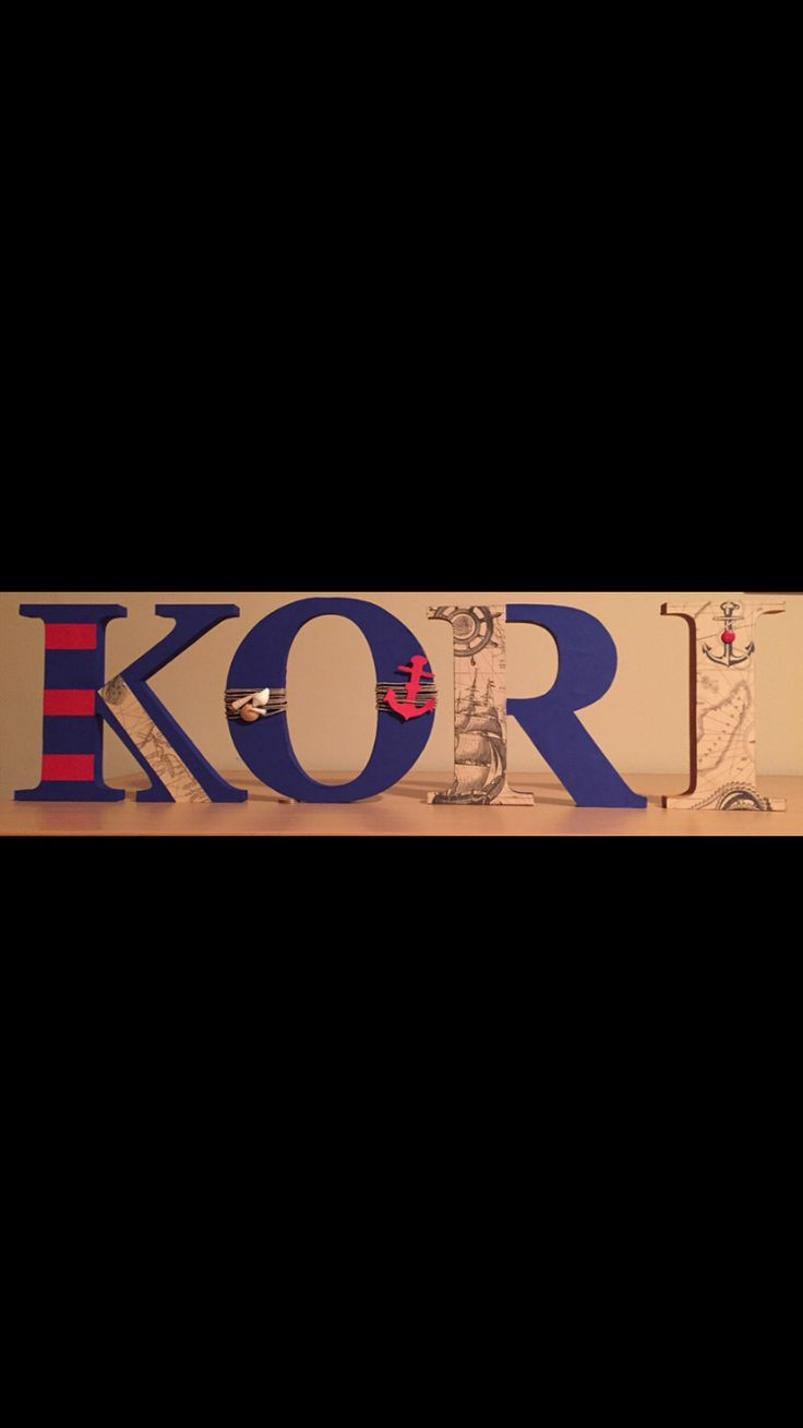 Nautical, wall decoration, letters, Kori , 3D letters