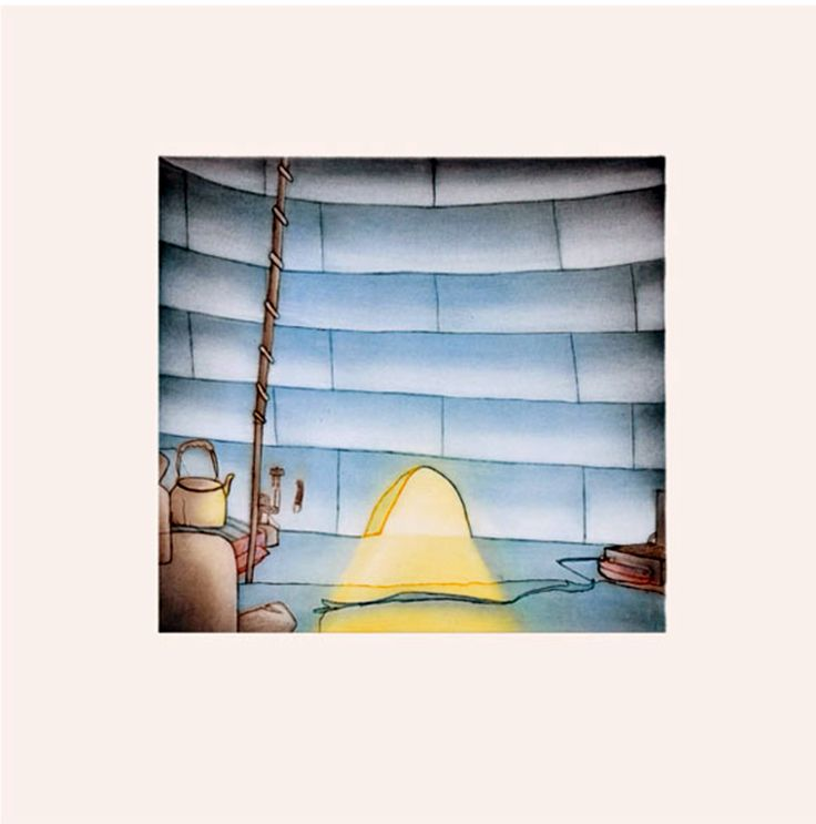"""Item # P14CD02 Price: C$500 Title: Sunlit Interior Dated: 2014 - Signed Artist: Pootoogook, Itee    Edition: 50  Community:  Link   Cape Dorset     Ref: Print #2 of the 2014 Cape Dorset Collection  Size: inches/cm 17"""" x 17"""" 43.2 cm x 43.2 cm Style: Etching / Aquatint Paper: Arches white http://www.inuitarteskimoart.com/images/P14CD02L.jpg"""