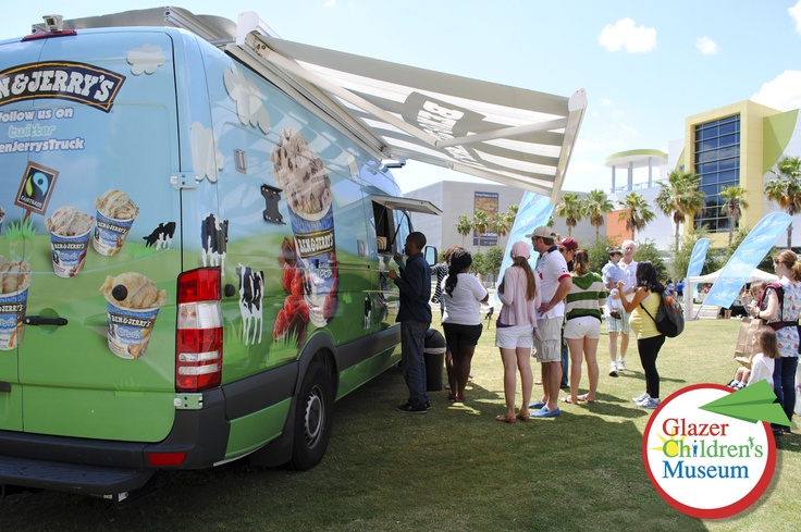 The Ben and Jerry's truck found us! A great day for ice cream in Curtis Hixon Park