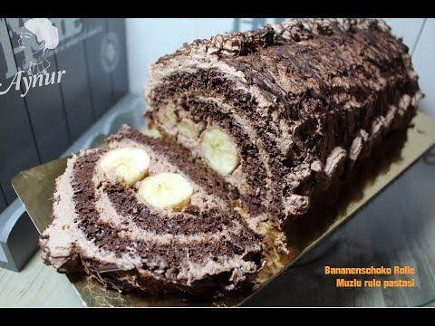 Kolay RULO PASTA Tarifi |Pamuksu  Pandispanya - lezzetli Krema eşliğinde |▪Masmavi3mutfakta▪ - YouTube