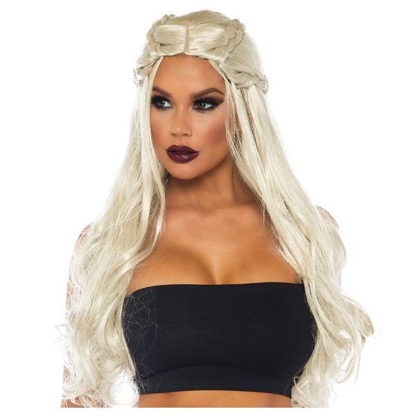 Long Wavy Braided Blonde Wig