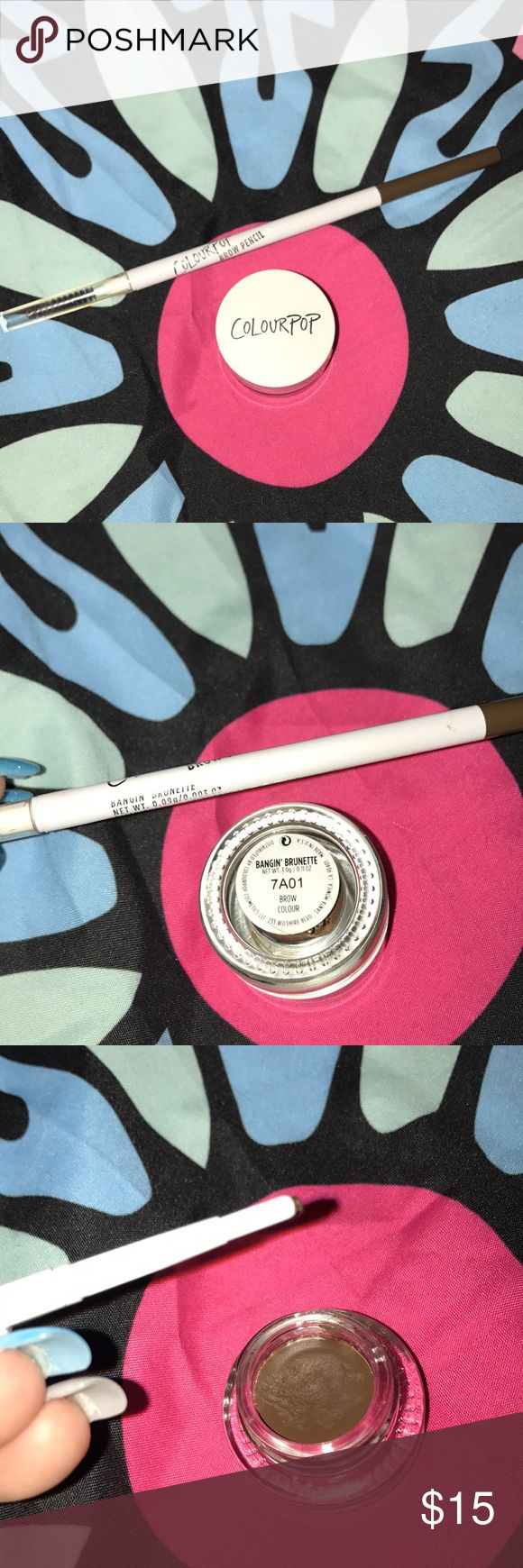 ColourPop Brow Bundle Colourpop brow bundle in bangin' brunette! Included Colourpop brow pencil and Colourpop brow gel pot. Both only used once or twice before I switched to Anastasia Beverly Hills. Tags: rag & bone nasty gal UNIF dollskill American apparel Tobi Charlotte Russe h&m lf free people forever 21 Bebe dolls kill classy American Eagle Hollister billabong la Hearts Kendall and Kylie lf express John galt pacsun Kat Von d Urban Decay naked Sephora ulta tarte ColourPop Makeup Eyebrow…