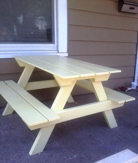 Les 25 meilleures id es concernant tables de pique nique palettes sur pintere - Fabriquer table picnic ...