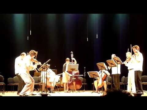 Rehearsal from the 2012 Cartagena Music Festival of Golijov's Last Round – this is the version for nine players (one musician to a part).