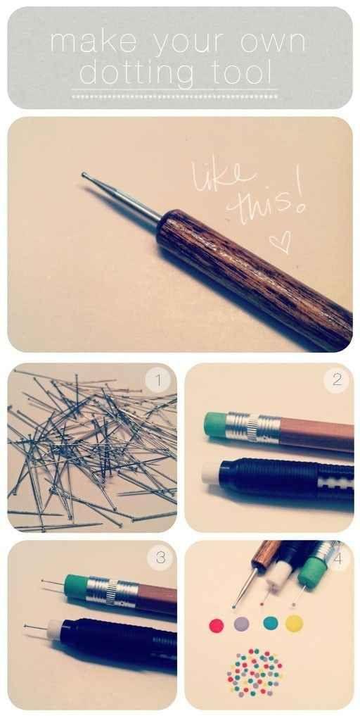 Fabriquez un outil à pointillés pour vos ongles.