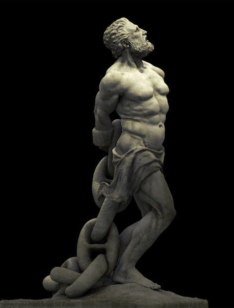 PROMETHEUS - (mitología griega), el titán que robó el fuego del Olimpo y se la dio a la humanidad; Zeus lo castigó encadenar a una roca, donde un águila roía el hígado hasta que Hércules lo rescató.