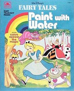 disney fairy tales paint with water book golden books 1991