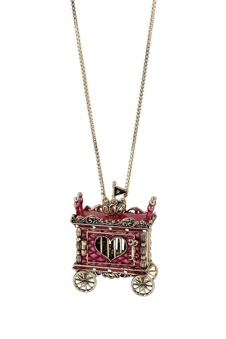 Lion Cage Pendant Long Necklace