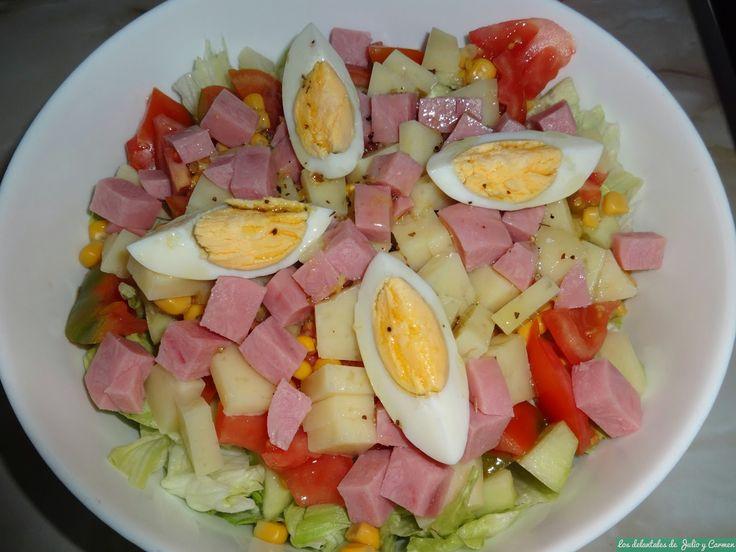 Ensalada mixta con vinagreta de limón y miel | Cocinar en casa es facilisimo.com