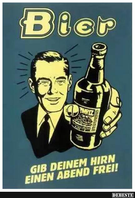 Bier.. | Lustige Bilder, Sprüche, Witze, echt lustig