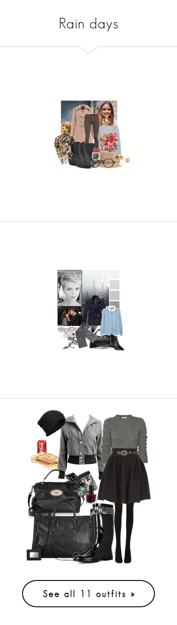 """Rain days"" by chiarastella ❤ liked on Polyvore featuring Dorothy Perkins, Joie, J Brand, MICHAEL Michael Kors, Burberry, Salvatore Ferragamo, Steven Alan, Barton Perreira, hat and rainlook"