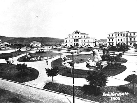 Belo Horizonte- Praca da Liberdade - 1905