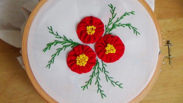 Hand Embroidery: Yo-yo flowers