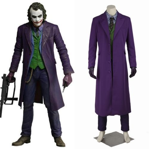 Halloween Batman The Dark Knight Rise Joker Outfits Movie Cosplay Costume Suit #Affiliate