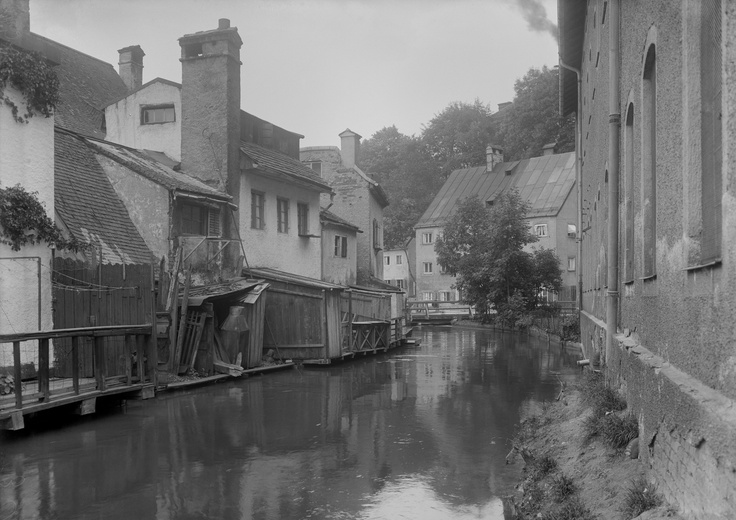 Auer Mühlbach (mill run), ca. 1900