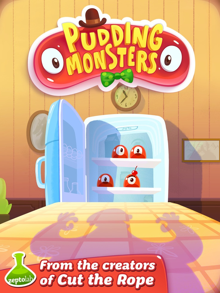 Pudding Monsters HD « FreeOnAppStore  Sticky, curious… and DETERMINED TO GET BIGGER!