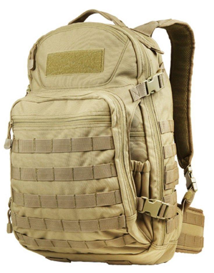 "Outdoor Venture Pack 20"" Versatile Tactical MOLLE Laptop Backpack Bag Condor 160"