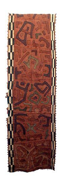 Kuba Ngeende Dance Skirt. Raffia cloth. via Hamill Gallery