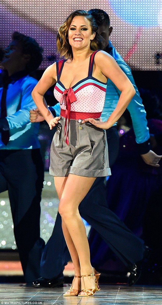 Excited: Caroline Flack made sure that the opening night of the Strictly tour started with a bang on Friday night