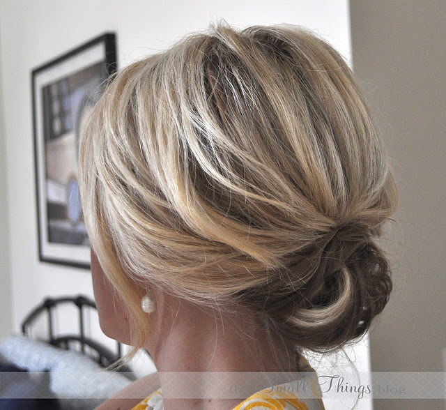 up do for shoulder length hair-- Kimbo's wedding