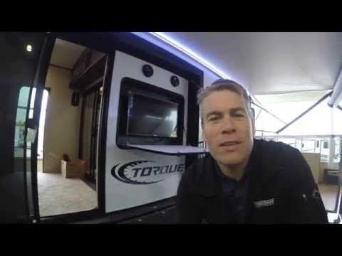 2017 Heartland Torque T32 Toy Hauler Travel Trailer with Side Deck! - YouTube
