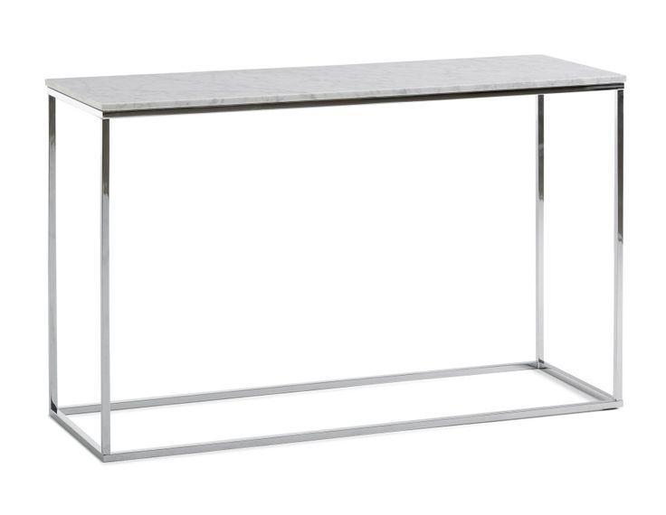 LEONARDO   Marble Console Table   White   Scructure