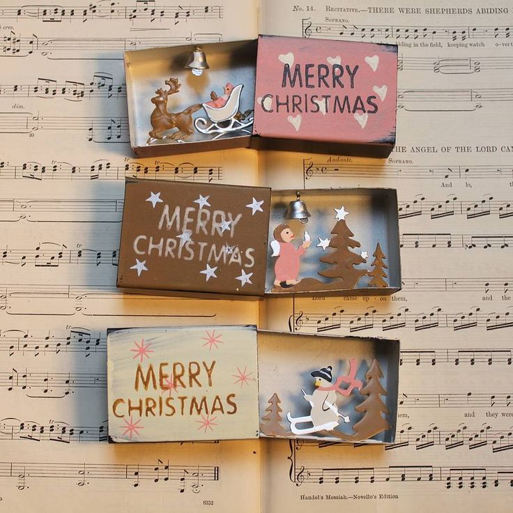 Christmas Matchbox Decorations