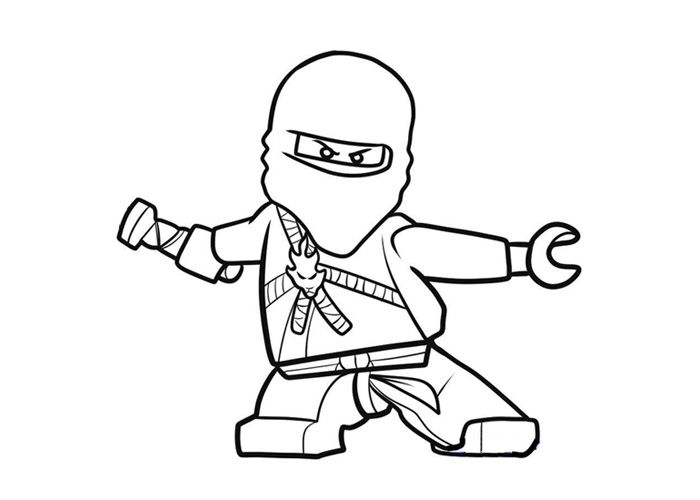 Ninjago Coloring Page Lego Coloring Pages Pinterest