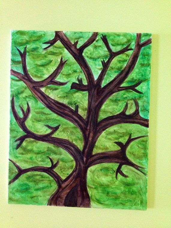 Abstract maple tree on Etsy, $50.00