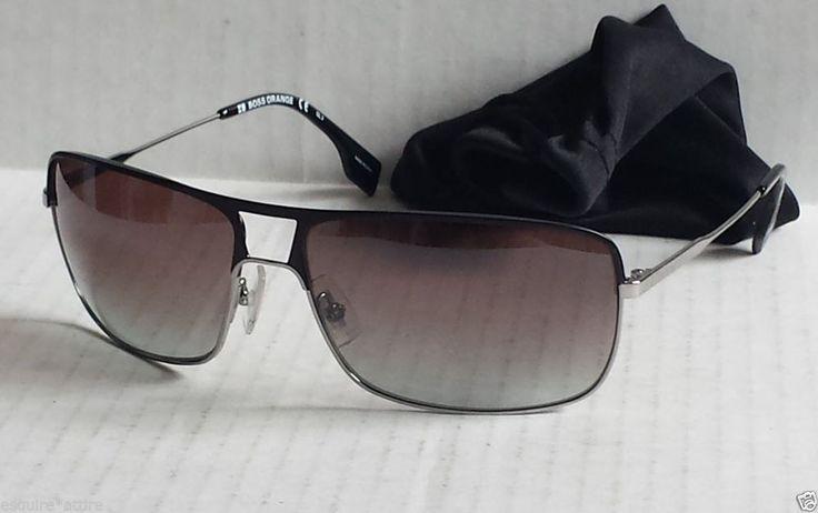Hugo Boss men sunglasses new with black pouch #HUGOBOSS #Rectangular