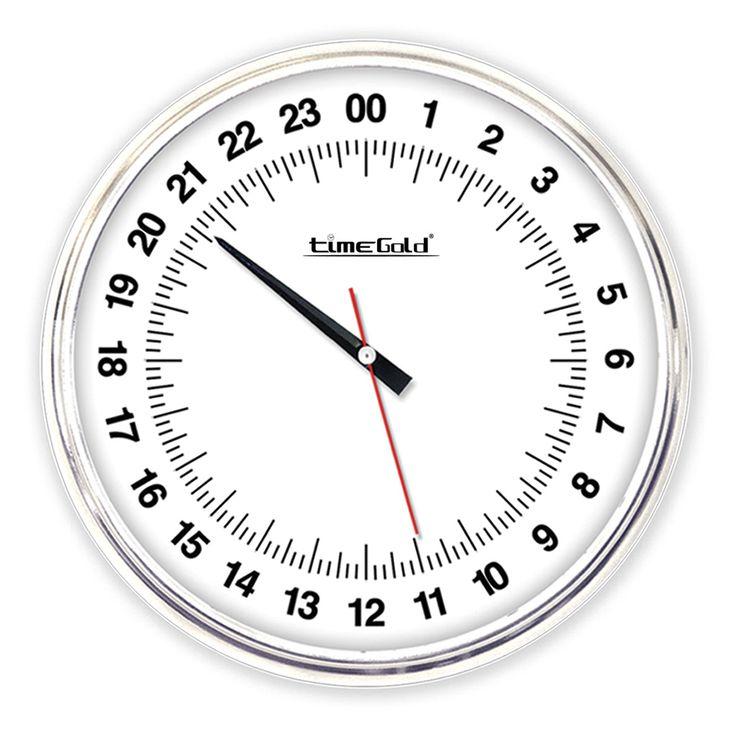 24 Saatlik Mekanizmalı Metal Duvar Saati  Ürün Bilgisi ;  Materyal        : Plastik Gövde & Bombeli Gerçek Cam Ebat              : 39 cm. Mekanizma    : Akar Saniye