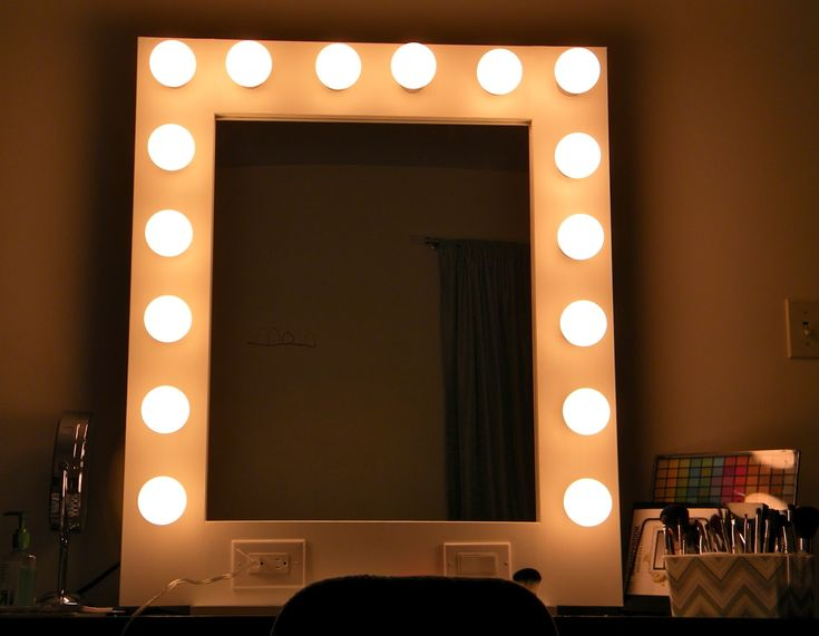 Modern Led Mirror Front Make Up Bathroom Vanity Light Wall: Best 25+ Mirror With Light Bulbs Ideas On Pinterest