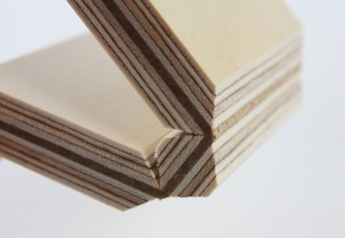 Fold technic │ Multiplex supporting structure │ leather hinge by Georg Ackermann - plywood - material at STYLEPARK
