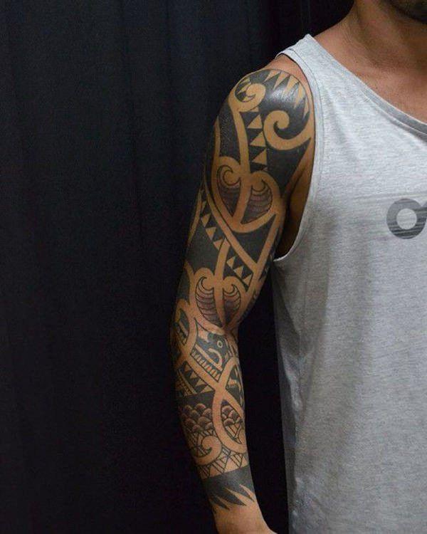 33 Aztec Half Sleeve Tattoos 33 Aztec Half Sleeve Tattoos 15 Aztec Tattoo Designs And 125 Tribal In 2020 Tribal Tattoos Tattoos For Guys Tribal Tattoos For Men