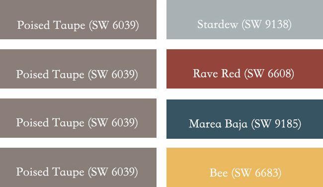 Combinaciones de colores con Poised Taupe