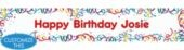 Party Streamers Custom Birthday Banner- Happy Birthday Banners- Custom Banners- Birthday Decorations- Birthday Party Supplies - Party City