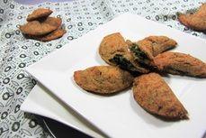 Špenátové taštičky /Spinnach pockets/ Bezlepkový a nízkosacharidový zdravý recept /Gluten free and low carb healthy recipe/