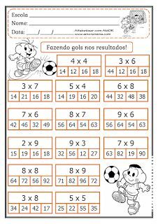 Alfabetizar com AMOR: MARCANDO GOL COM O RESULTADO! FATOS PARA 4º ANO/ 5...