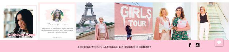 Solopreneur Society | Website Instagram Feed Design