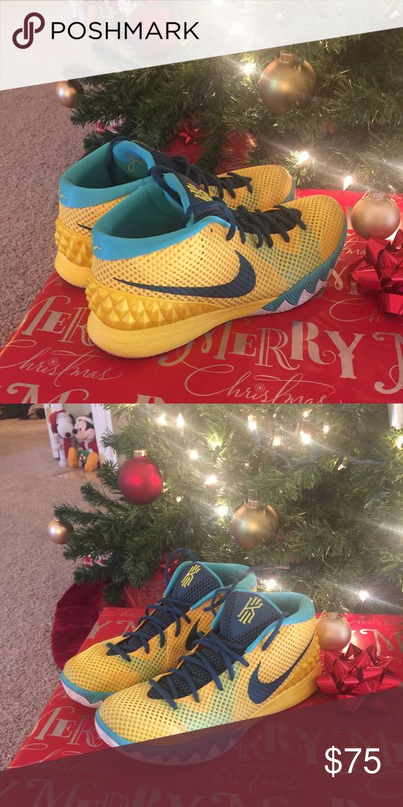 """Nike Kyrie 1 """"Easter"""" Show Great shape! Nothing wrong with them! Nike Shoes Athletic Shoes"""