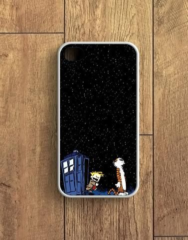 Night Stars Tardis Calvin And Hobbes Doctor Who Crossovers Skyscapes iPhone 4 | 4S Case
