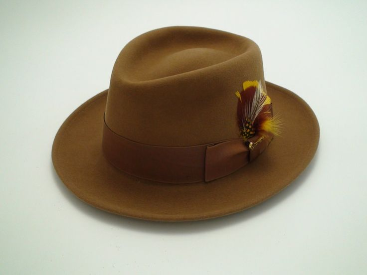 NEW Royal Biltmore Hat Pecan Brown Fur Felt Fedora Size 6 3/4″