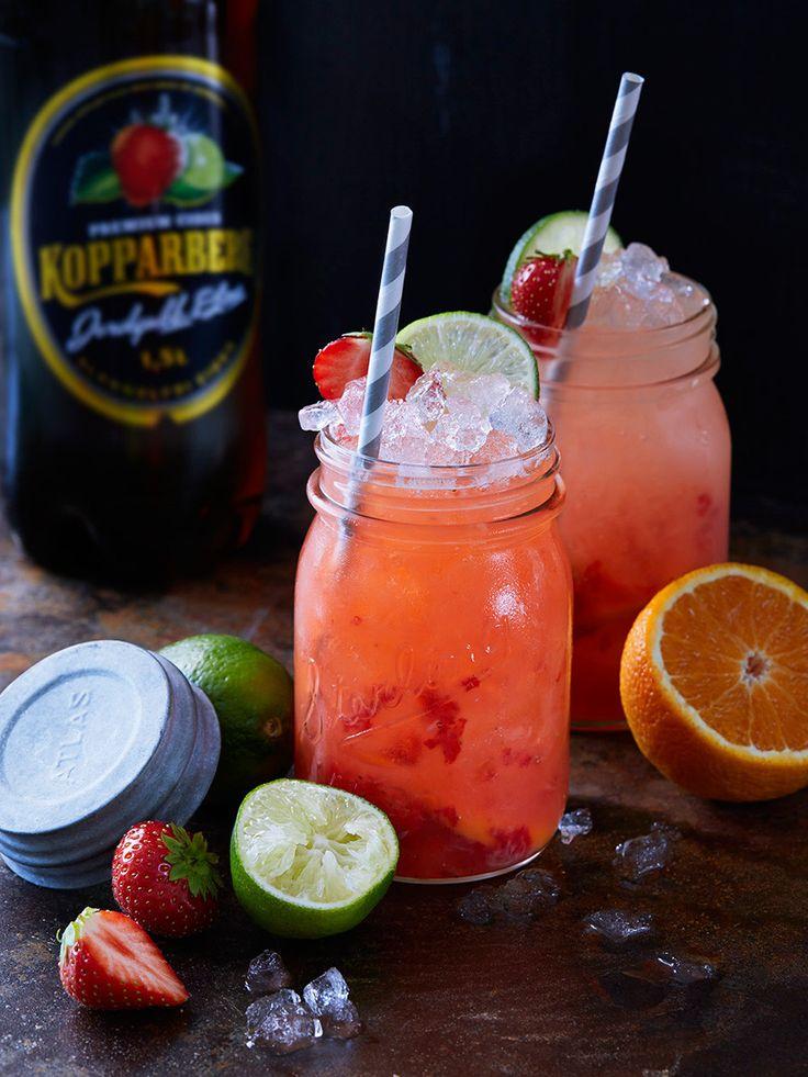 Strawberry Collins – alkoholfri drink