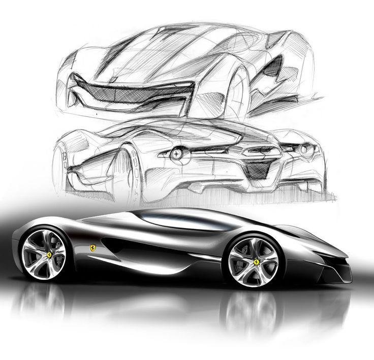 Awesome Designs For The U0027Ferrari World Designu0027 Contest. Car Design SketchCar  ...