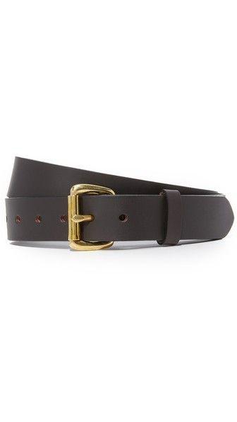 The best belt that money can buy, via Filson.